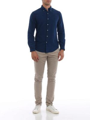 RALPH LAUREN: camicie online - Camicia Oxford indigo con collo button-down