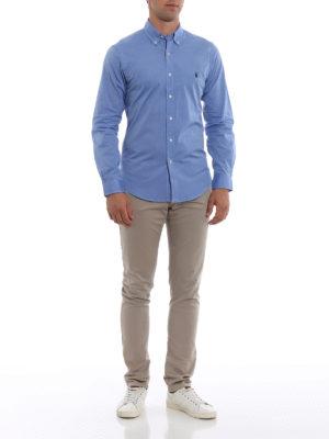 RALPH LAUREN: camicie online - Camicia slim con collo button-down