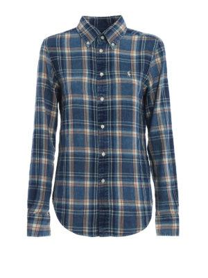 RALPH LAUREN: camicie - Classica camicia a quadri con collo b/d