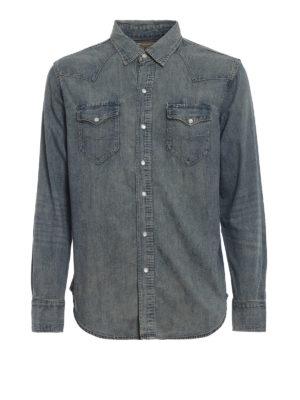 RALPH LAUREN: camicie - Camicia effetto denim con bottoni madreperla