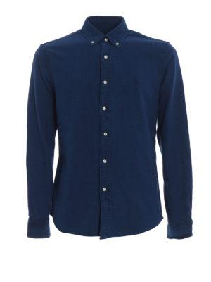 RALPH LAUREN: camicie - Camicia Oxford indigo con collo button-down