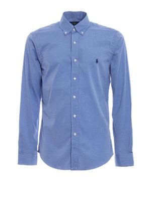 RALPH LAUREN: camicie - Camicia slim con collo button-down