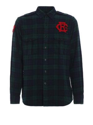 RALPH LAUREN: camicie - Camicia tartan con patch rosse