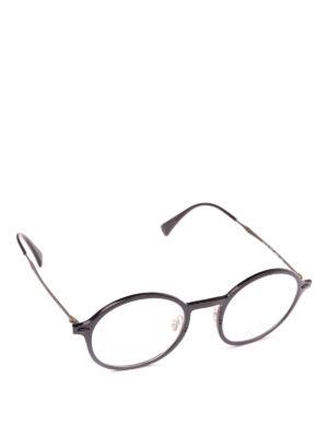 RAY-BAN: Occhiali - Occhiali tondi con montatura in acetato nero