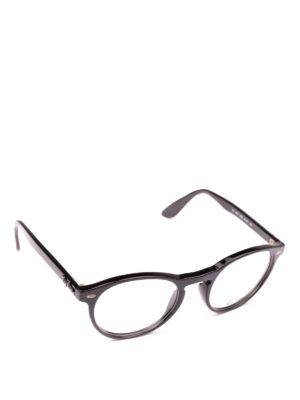 RAY-BAN: Occhiali - Occhiali da vista ovali con montatura nera