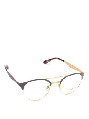 RAY-BAN: Occhiali - Occhiali ovali bicolore con doppio ponte