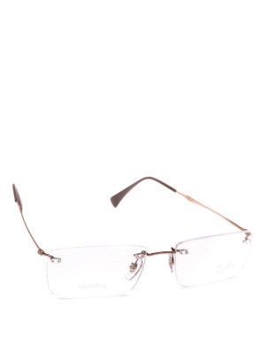 RAY-BAN: Occhiali - Occhiali da vista bronzo senza montatura