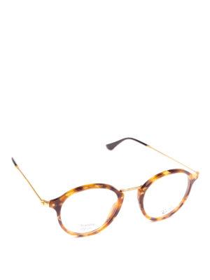 RAY-BAN: Occhiali - Occhiali tondi tartaruga e metallo dorato