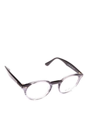 RAY-BAN: Occhiali - Occhiali tondi con montatura effetto liquido