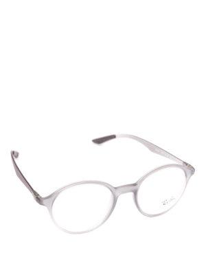 RAY-BAN: Occhiali - Occhiali da vista montatura trasparente matte