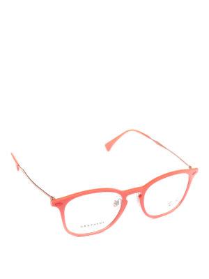 RAY-BAN: Occhiali - Occhiali da vista acetato arancio e metallo