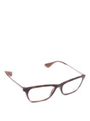 RAY-BAN: Occhiali - Occhiali in acetato e metallo rettangolari