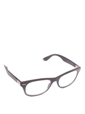 RAY-BAN: Occhiali - Occhiali cat-eye rettangolari montatura nera