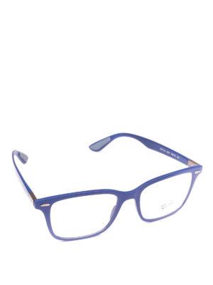 RAY-BAN: Occhiali - Occhiali rettangolari montatura blu elettrico