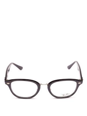 RAY-BAN: Occhiali online - Occhiali ovali neri con ponte in metallo