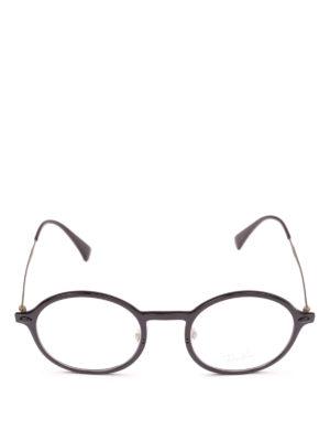 RAY-BAN: Occhiali online - Occhiali tondi con montatura in acetato nero