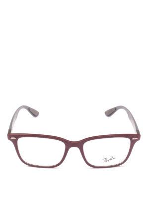 RAY-BAN: Occhiali online - Occhiali rettangolari montatura burgundy