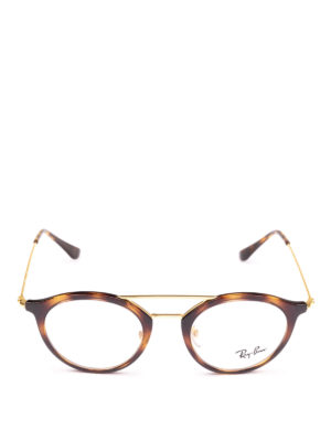 RAY-BAN: Occhiali online - Occhiali ovali tartaruga con doppio ponte