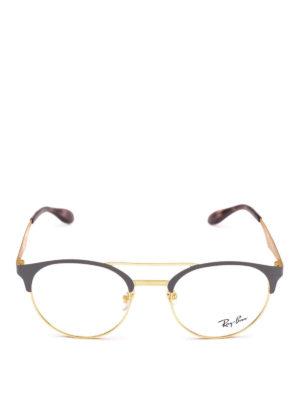 RAY-BAN: Occhiali online - Occhiali ovali bicolore con doppio ponte