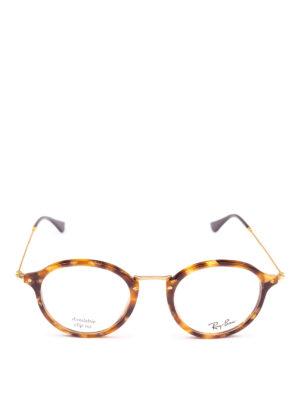 RAY-BAN: Occhiali online - Occhiali tondi tartaruga e metallo dorato
