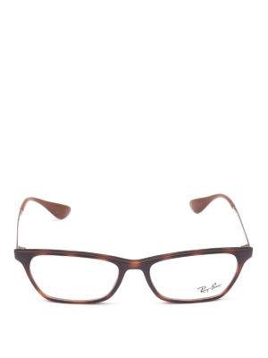 RAY-BAN: Occhiali online - Occhiali in acetato e metallo rettangolari