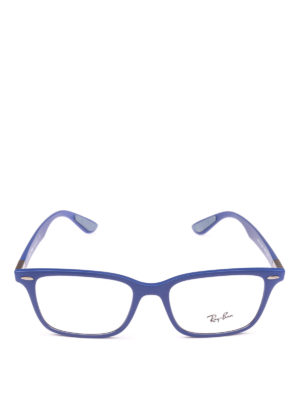 RAY-BAN: Occhiali online - Occhiali rettangolari montatura blu elettrico