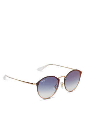 Ray Ban: sunglasses - Blaze Round metal sunglasses