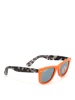 RAY-BAN: sunglasses - Wayfarer orange sunglasses