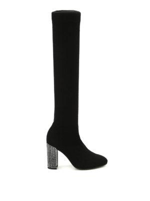 Rene Caovilla: boots - Cashmere socks jewel boots