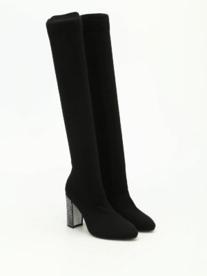 Rene Caovilla: boots online - Cashmere socks jewel boots