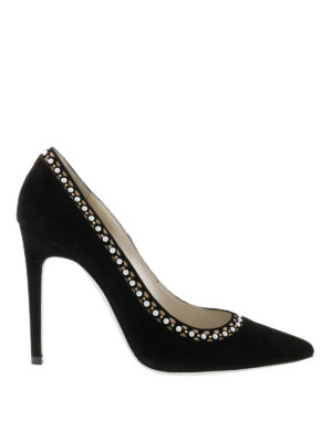 Rene Caovilla: court shoes - Embellished suede pumps