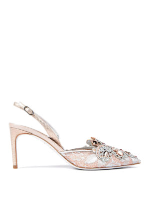Rene Caovilla: court shoes - Jewel slingback pumps