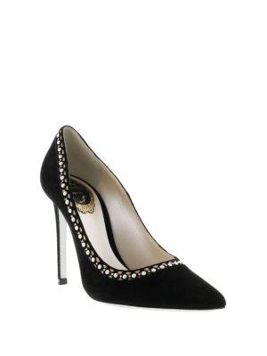 Rene Caovilla: court shoes online - Embellished suede pumps