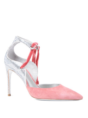 Rene Caovilla: court shoes online - Embellished suede pumps