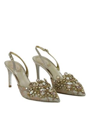 Rene Caovilla: court shoes online - Jewel lace slingback pumps