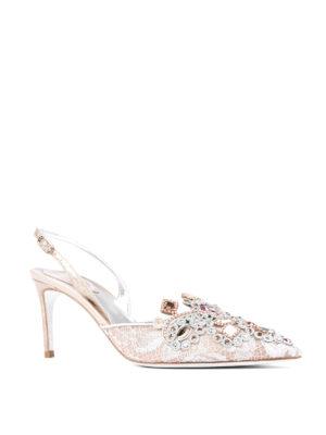 Rene Caovilla: court shoes online - Jewel slingback pumps