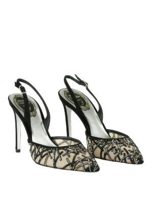 Rene Caovilla: court shoes online - Rhinestones detail slingback pumps