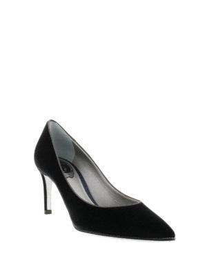 Rene Caovilla: court shoes online - Velvet court shoes