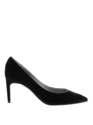 Rene Caovilla: court shoes - Velvet court shoes