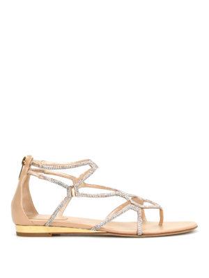 Rene Caovilla: sandals - Cage design jewel flat sandals