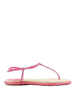Rene Caovilla: sandals - Crystal embellished thong sandals