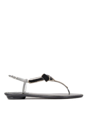 Rene Caovilla: sandals - Embellished bow thong sandals