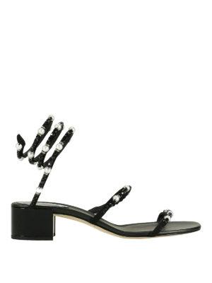Rene Caovilla: sandals - Embellished suede snake sandals
