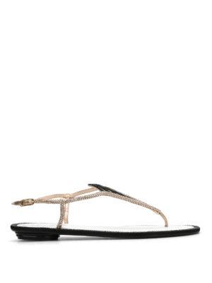 Rene Caovilla: sandals - Geometric jewel design sandals