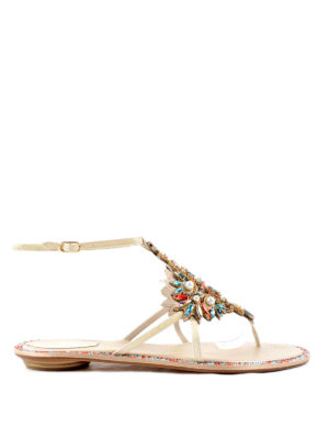 Rene Caovilla: sandals - Jewel thong sandals