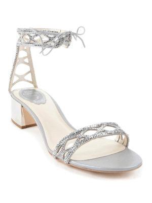 Rene Caovilla: sandals online - Crystal embellished sandals