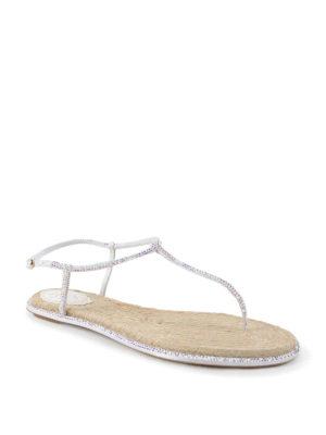 Rene Caovilla: sandals online - Crystal embellished thong sandals
