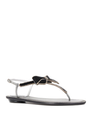 Rene Caovilla: sandals online - Embellished bow thong sandals