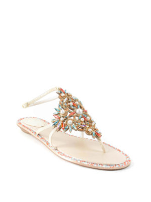 Rene Caovilla: sandals online - Jewel thong sandals