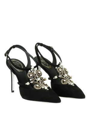 Rene Caovilla: sandals online - Sandals with pearls and rhinestones